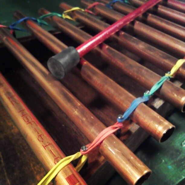 Copper pipe and rubber band Glockenspiel | DIY Instruments ...