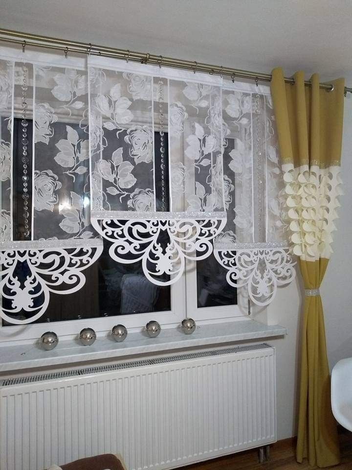 VERY interesting idea for curtains/ drapes ! Use r…