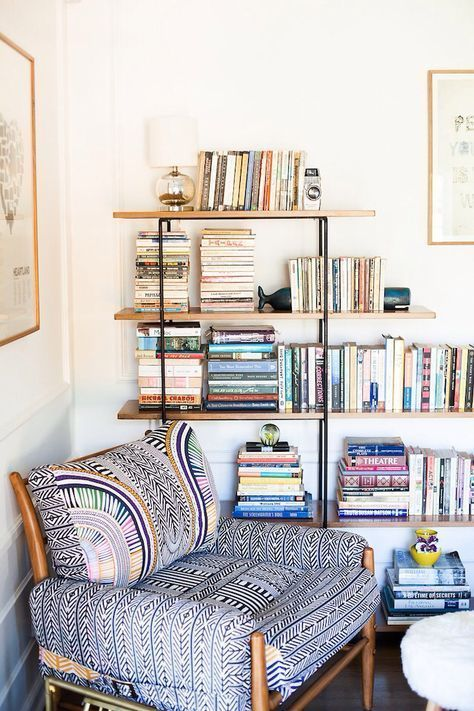 Colorful chair and books