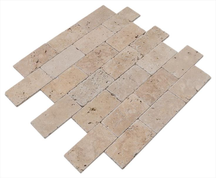 BuildDirect – Travertine Tile - Tumbled – Riverbed Walnut Beige - Angle View