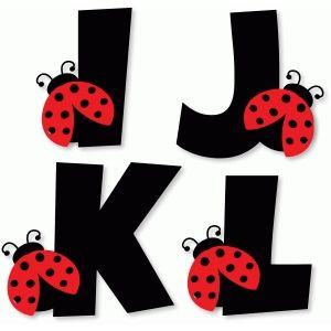 Silhouette Design Store: ladybug alphabet - i j k l