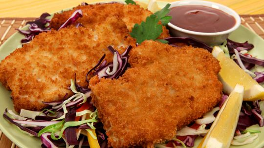Pork Katsu - Recipes - Best Recipes Ever - Crunchy on the outside and tender on the inside, this quick dish fries up in minutes....