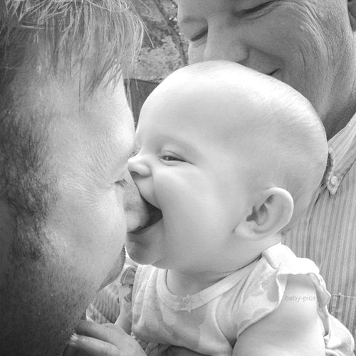 Nothings better than a sloppy kiss from a baby : )