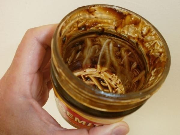 An almost-empty jar of Vegemite that no one can bring themselves to throw away. well we can still scrape the sides people!