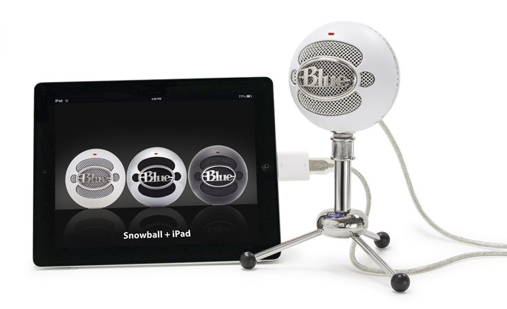 Apple's camera connection kit now allows the Snowball and Snowflake USB mics to be used on iPad! Now you can get Blue's studio-quality audio on your iPad with any recording app, including FiRe, GarageBand, Blue FiRe and more!