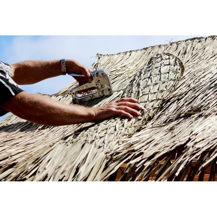 Mexican Palm Thatch Runner Roll Mexican Palm Lawn Edging Thatch