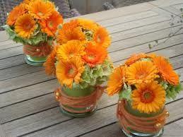 oranje bloemstuk