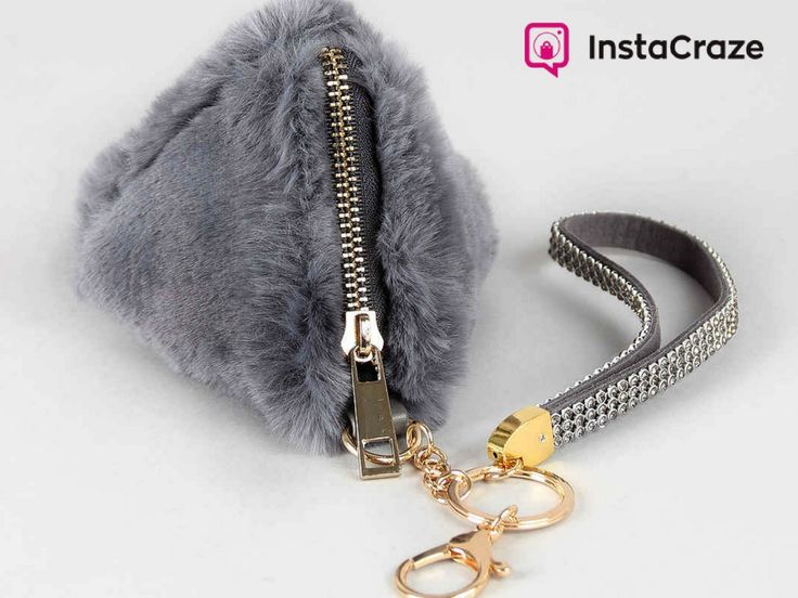 Faux fur pyramid #KeyChain for just $26.14 only at #Instacraze