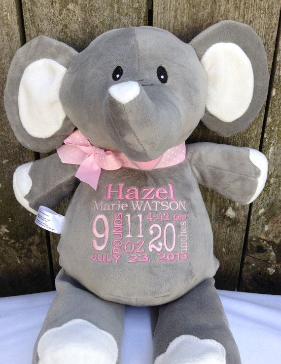 439 best personalized baby gifts images on pinterest animal monogrammed baby gift personalized baby gift birth announcement elephant by worldclassembroidery 3999 negle Choice Image