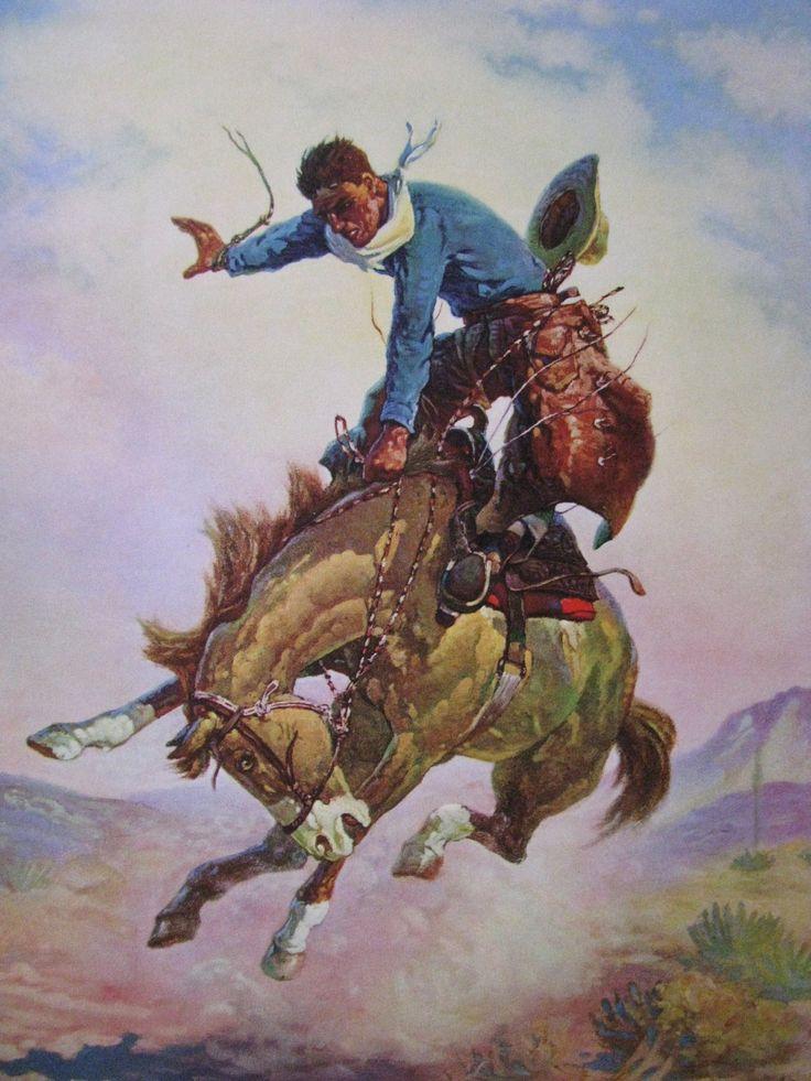 Bucking Bronco Google Search Cowboy Art Bronco Horse