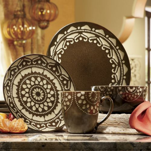 16 Piece Mandala Dinnerware Set From Seventh Avenue