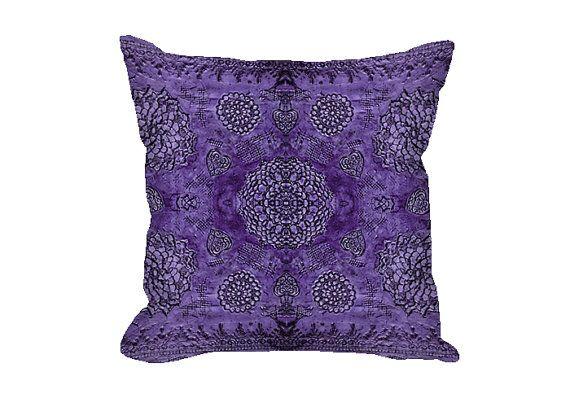 Bohemian Decor Throw Pillow Cover Boho Decor Purple