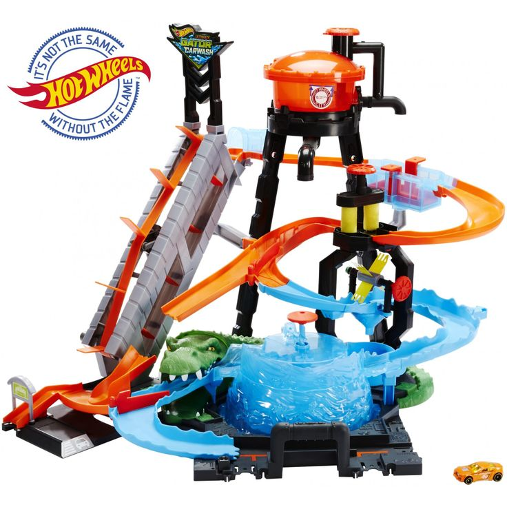 Hot wheels ultimate gator car wash play set with color