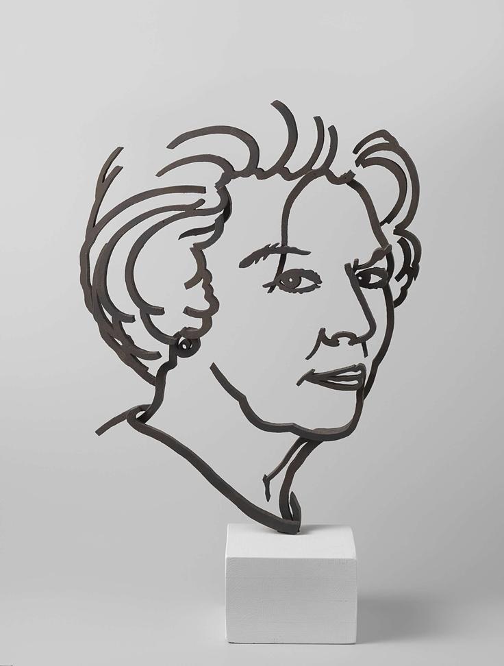 Ontwerp portret Koningin Beatrix, Jeroen Henneman, 2000