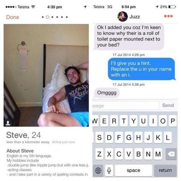 20 Humans To Stay The F*ck Away From On Tinder
