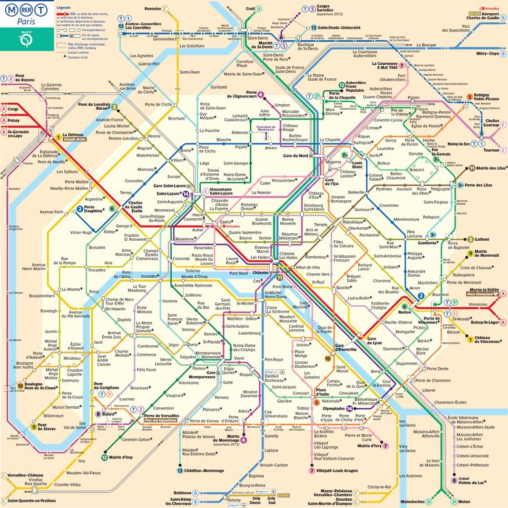 Plan de métro de Paris
