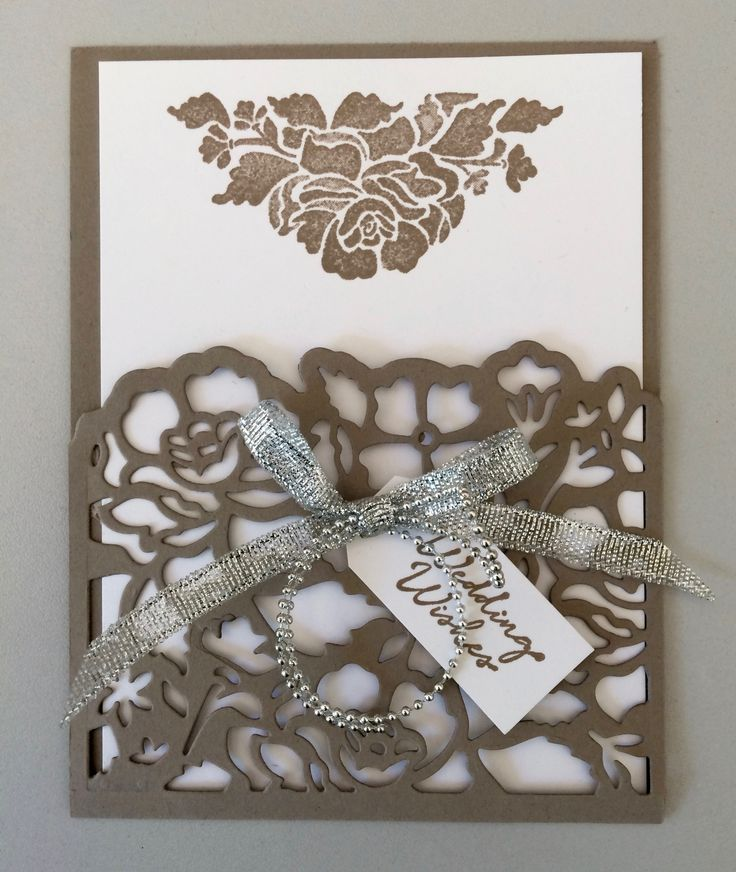 Floral Phrases, Stampin' Up! & thinlits, Wedding Wishes