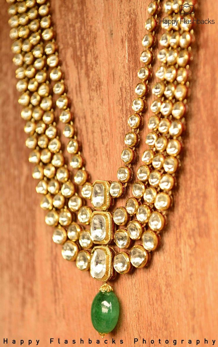 gold polki necklace