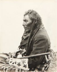 American Indian Art:Photographs, NORTHERN BLACKFEET CEREMONIAL ALTAR, BIG BELLY, STUMP, and EAGLENOSE. c. 1912... (Total: 4 Items)