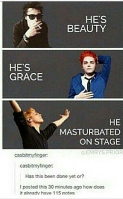 Lol only Gerard... Smh | Bands | My Chemical Romance, Emo ...