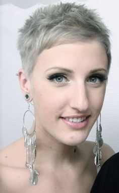Super Short Hairstyles Gorgeous 24 Best Hairstyles Images On Pinterest  Grey Hair White Hair And