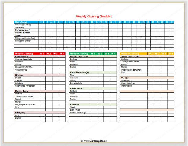 Daily Checklist Template Word - Pin Weekly Check Off List Template On Pinterest