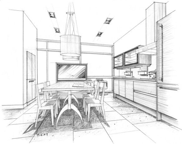 display 4 interior perspective drawings pinterest display sketches and interiors