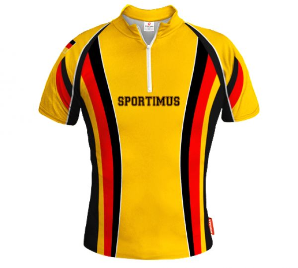 GERMANY Yellow Biking Jersey With Custom Name