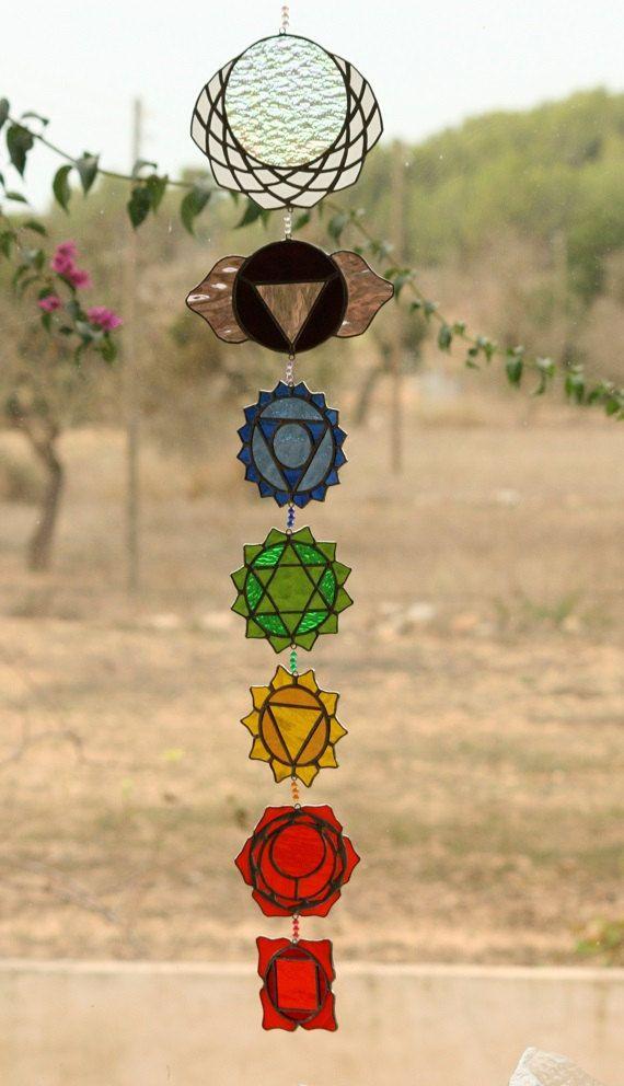 Geometria sagrada Atrapasol  Chakras de cristal estañado