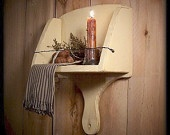 Primitive Scoop Shelf Farmhouse Wood and Wire Towe…