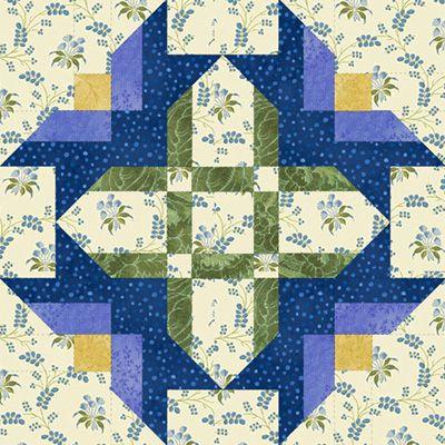 "~ Serenade in Blue Block ~ 18"" blocks"