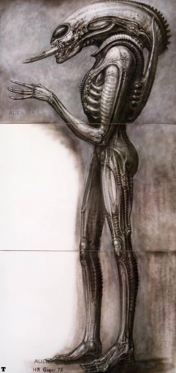 Hans Rüdi Giger: Alien III side-view II
