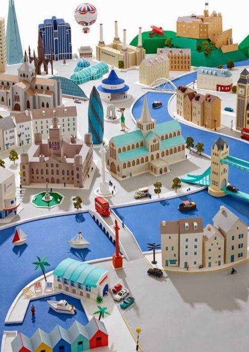 Макеты городов от дизайнера Хэтти Ньюман (Hattie Newman)