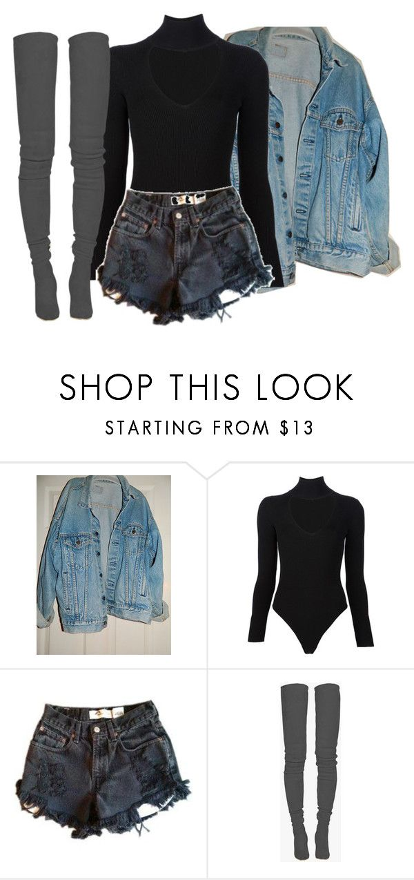 """Untitled #183"" by rich-princesa ❤ liked on Polyvore featuring Levi's, Cushnie Et Ochs and Balmain"