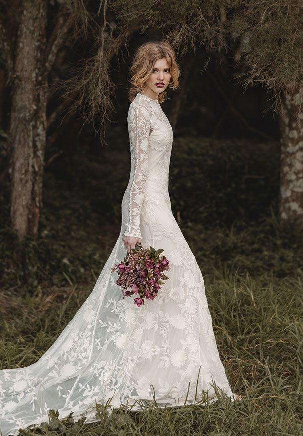 boho lace wedding dressethereal