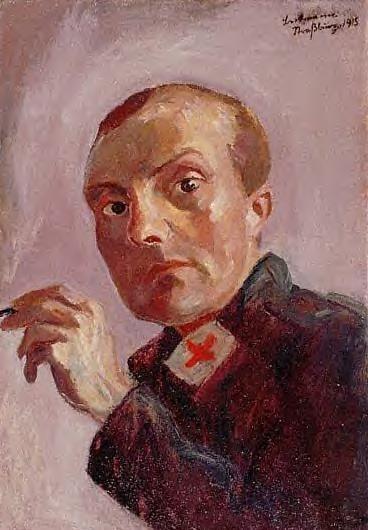 1915 Autoportrait en infirmier. Отто Дикс