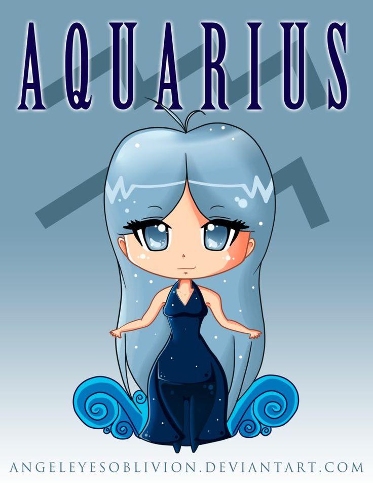 Zodiac Chibi: Aquarius by Neko-CosmicKitty