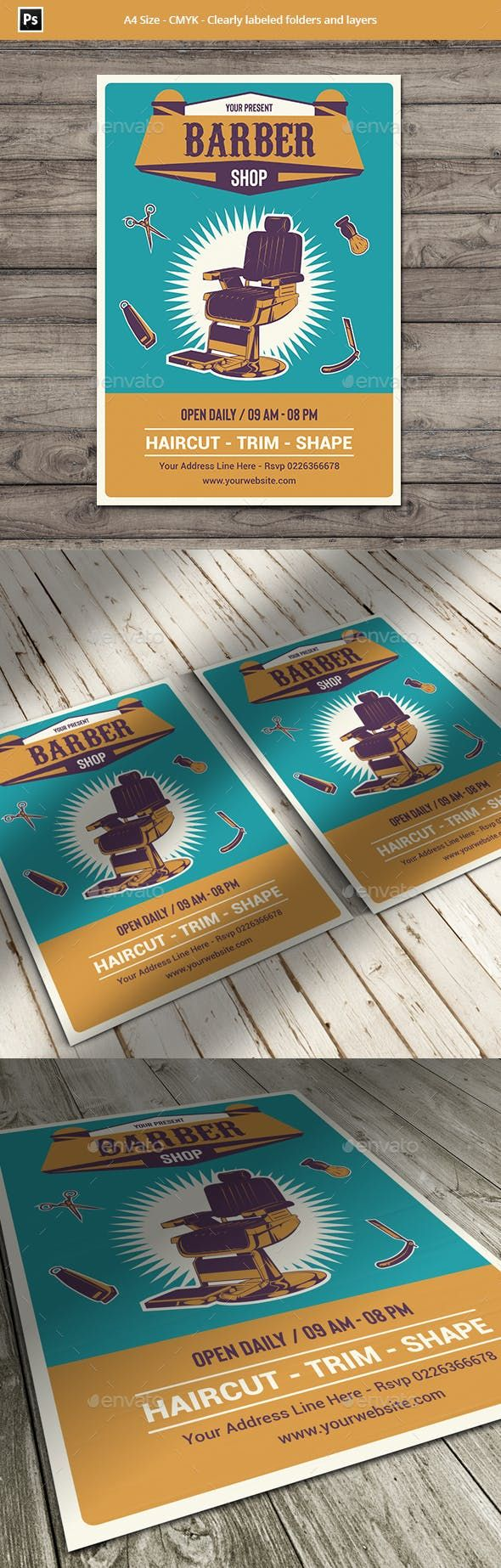 pin by best flyer designs on barbershop flyer templates