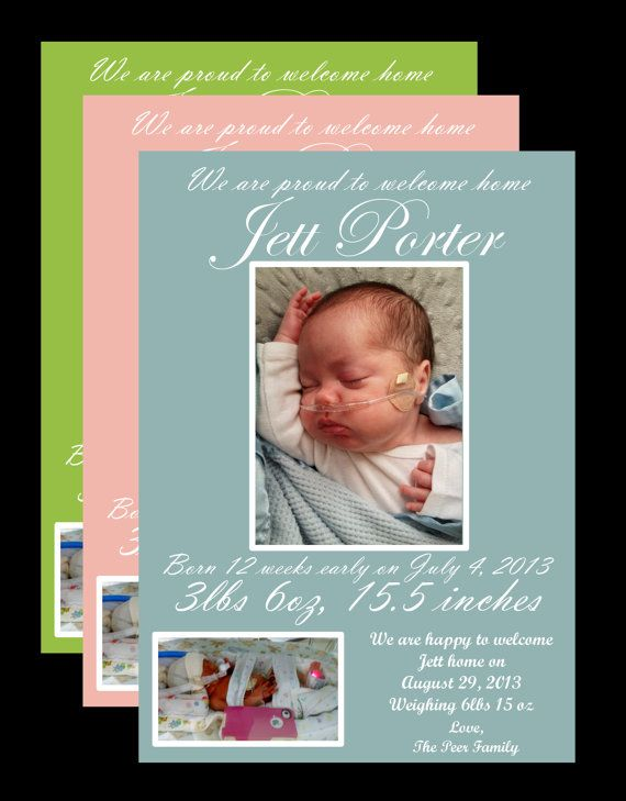 Preemie/NICU Graduate Announcement with 2 by 5280PaperCrafts, $6.00  www.facebook.com/5280PaperCrafts