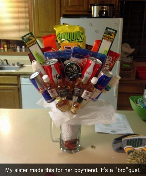"Perfect ""gift basket"" for a guy"
