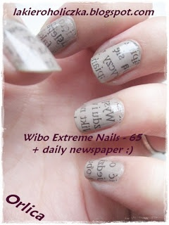 TUTORIAL @ Newspaper nails - step by step!