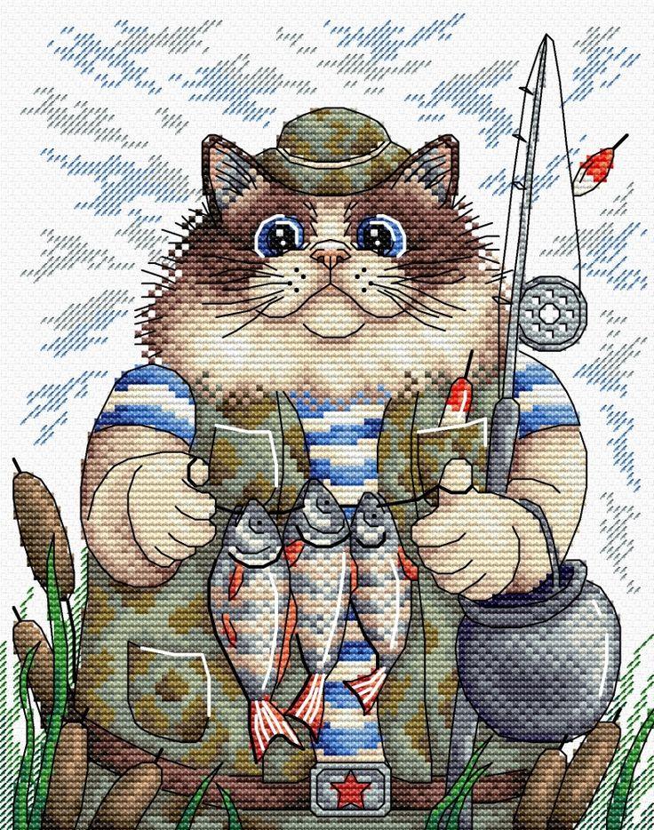 или кот и рыбалка картинки для частая локализация