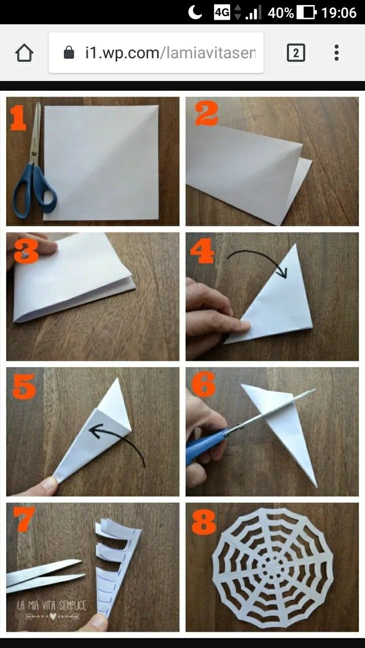 Cose Creative Con La Carta come fare delle simpatiche ragnatele con un foglio di carta