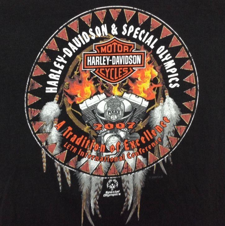 M Harley-Davidson T-Shirt Special Olympics Motorcycle USA OKC Medium Men Women in   eBay