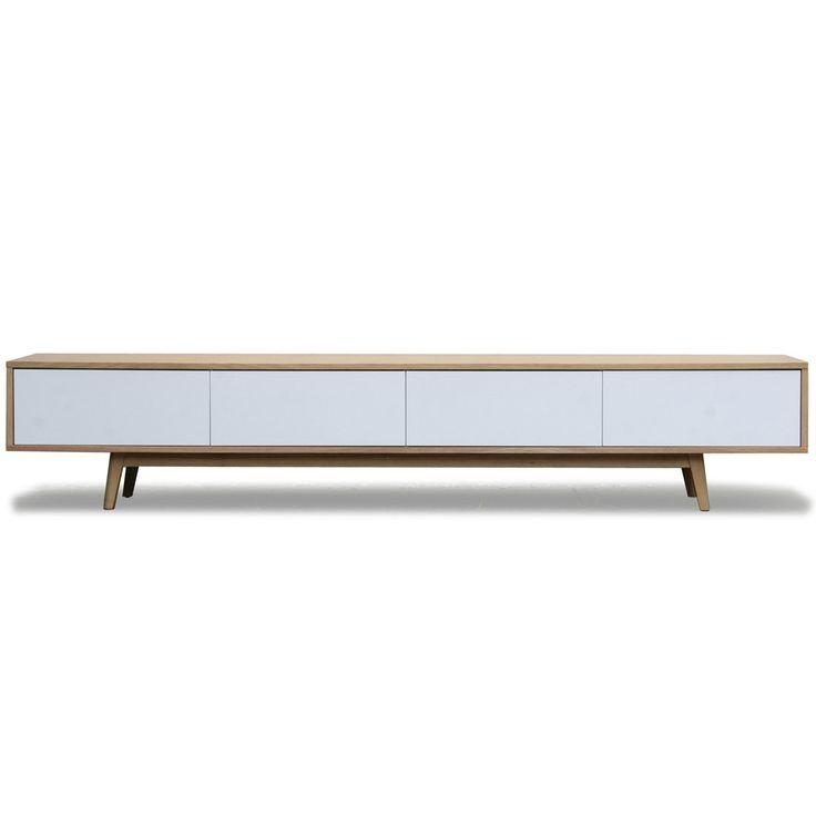 399 eur. Vintage tv dressoir wit eiken | Zen Lifestyle