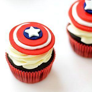 How to Make Captain America Cupcake Toppers Video | MyRecipes.com