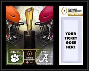 Buy 2016 National Championship Alabama Crimson Tide vs Clemson Tigers Ticket Collage