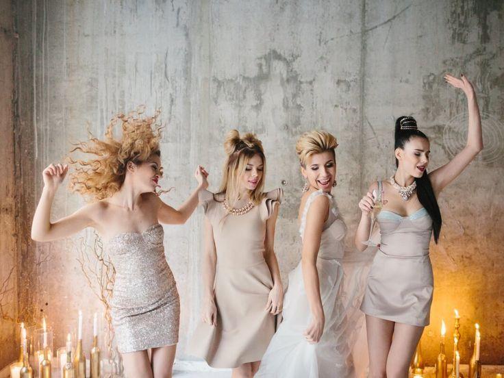 Bachelorette party in golden and beige. Вечеринка-девичник для Ани и ее подружек. Свадебное агентство Киев Caramel Events