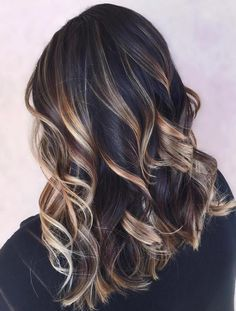 Golden Brown Balayage Caramel Black Hairstyles for Winter 2016 - 2017