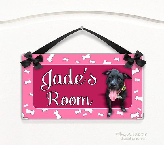spoiled dog personalized sign  pet spot wall hanger. This cute dog is just an example. You can have your dog or cat on the sign. Just send a good quality/hight resolution picture. by kasefazem